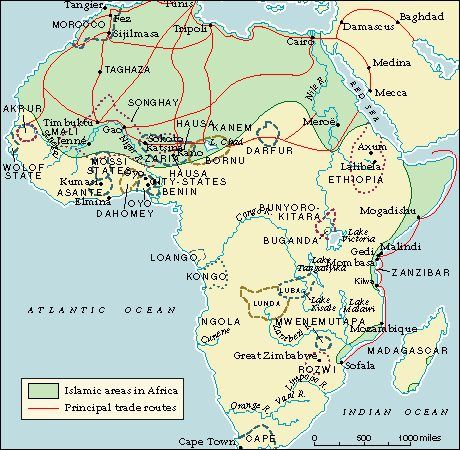 Map Of Africa 1500 Africa, 1500 1800
