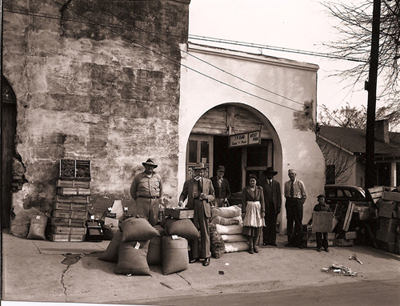 Oxford, Mississippi, Heards Feed store and abandoned livery stable