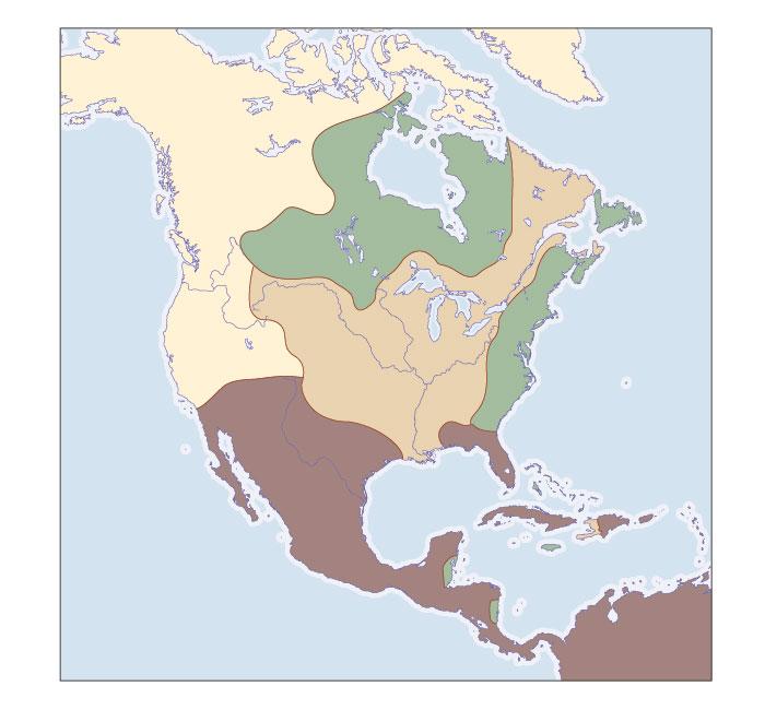 North America, 1713