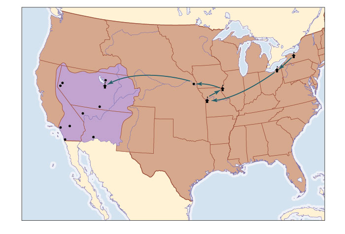 StudySpace America A Narrative History E Brief - Map of us in 1830