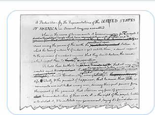 declaration independence thomas jefferson look writing sty While thomas jefferson would write the declaration of independence, the remaining members were to assist him and make any alterations if required the original document was slightly altered by benjamin franklin and john adams, and was finally given to the congress for approval.