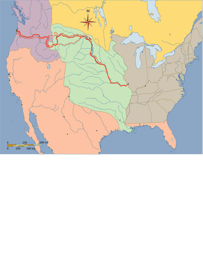 StudySpace Inventing America Nd Ed - Fort clatsop on us map