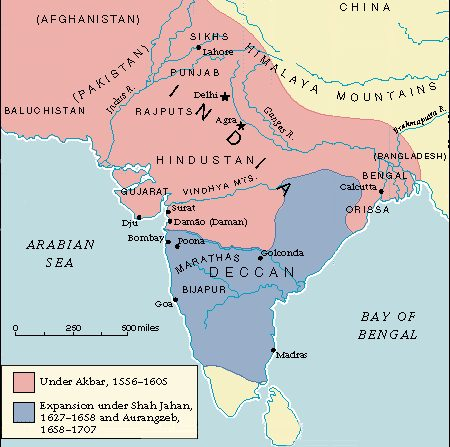 the history of the mughal empire of india The mughal empire dominated india politically, culturally, socially, economically  and environmentally, from its foundation by babur, a central asian adventurer,.