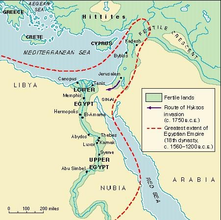 Ancient Egypt - Map of egypt ancient