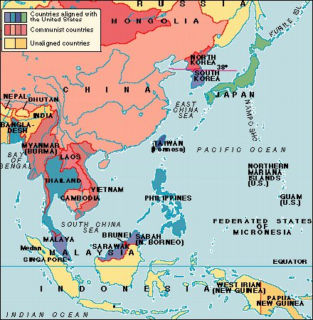 Modern Asia - Map of east asia