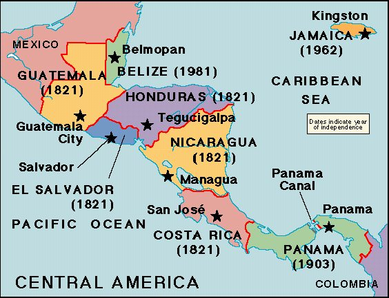 Latin American Countries Independence Dates 69
