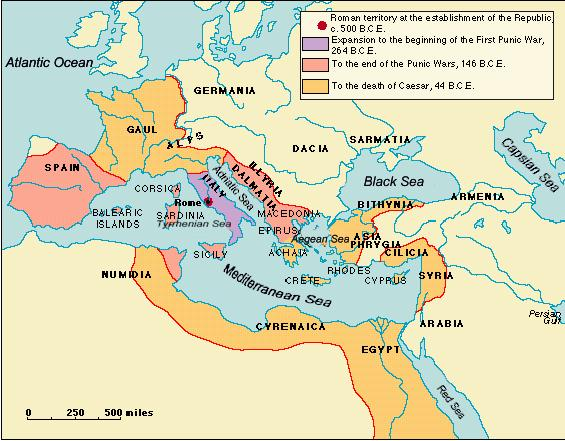 The Roman Republic - Egypt and rome map
